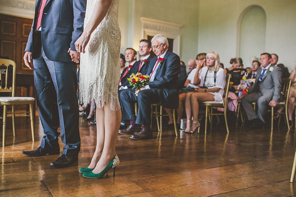 All That Jazz!  Green Wedding Shoes And A Vintage Flapper Dress For A 1920s Jazz Inspired Wedding (Weddings )