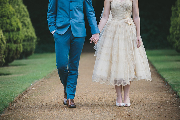 Original vintage 1950s wedding dress, Fur Coat No Knickers, bright and colourful wedding, McKinley Rodgers Photography
