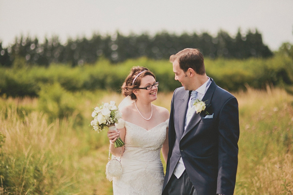 A Beautiful Bride in Glasses And Her 'Something Blue' Wedding (Weddings )