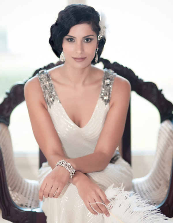 Glitzy Secrets Twenties Heirloom collection, 1920 style wedding accessories, www.glitzysecrets.com