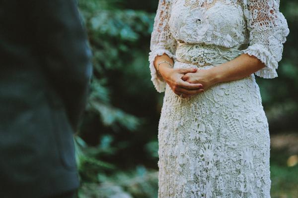 A Vintage Edwardian Crochet Dress For A Californian Wedding in the Woods (Weddings )