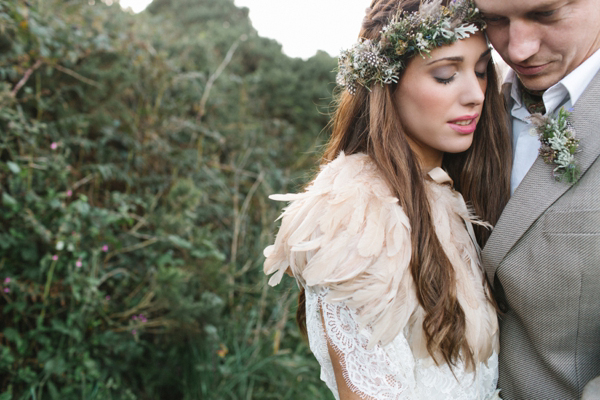 A Beautiful Bohemian Style Elopement in Cornwall (Weddings )
