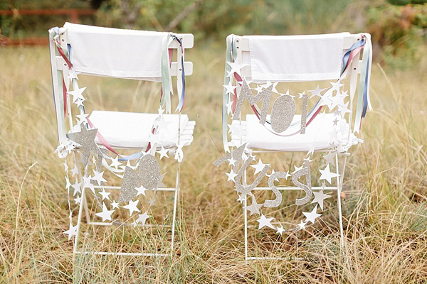 How To Create Your Own Glitter Wedding Chair Decor, by Knot and Pop (DIY Projects )