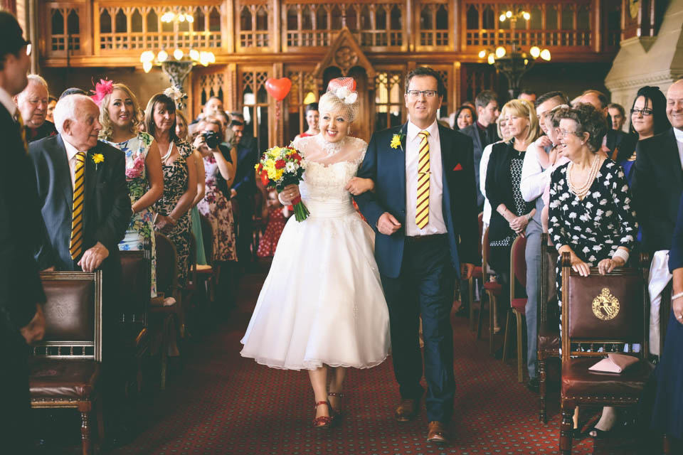 Red, Yellow and Polka Dots - A Fun and Quirky 1950s Retro Style Wedding (Weddings )