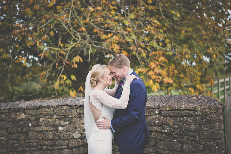 An Elegant, Backless, Suzanne Neville Gown For A Handmade Lavender Inspired Barn Wedding (Weddings )
