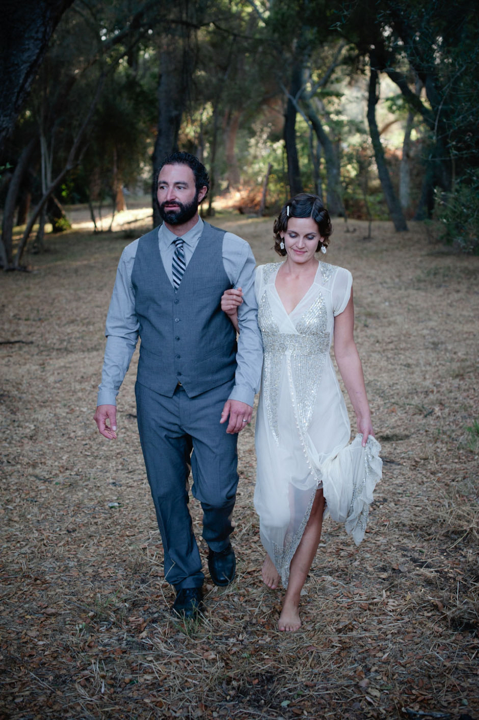 Anna Sui Sequins For A Barefoot Bride And Her Grecian Style Wedding (Weddings )