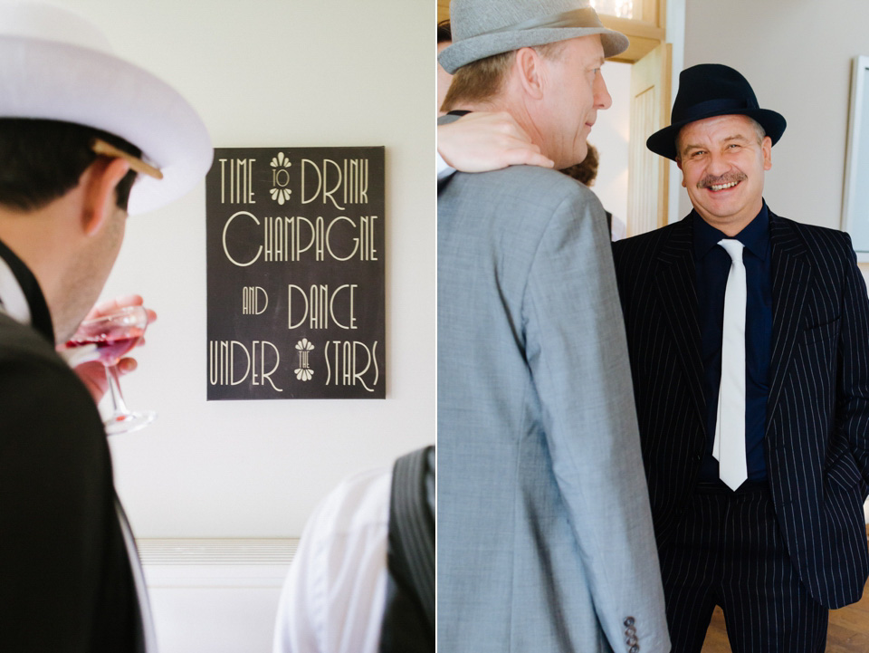 A 1920's Speakeasy Inspired Wedding for A Bridal Designer and her Beau (Weddings )