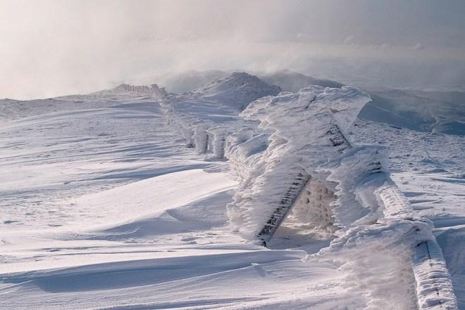 Снежное царство в Кередигионе, Англия