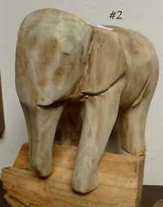 Mango Wood Elephant #2 available for purchase or bid on eBay.