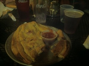 Mellow Mushroom calzone