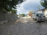 Road between the house and the orphanage