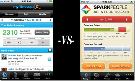 myfitnesspal vs sparkpeople