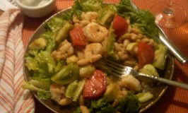Friday night Shrimp Salad 9-23-11