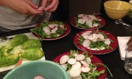 Zach with radishes