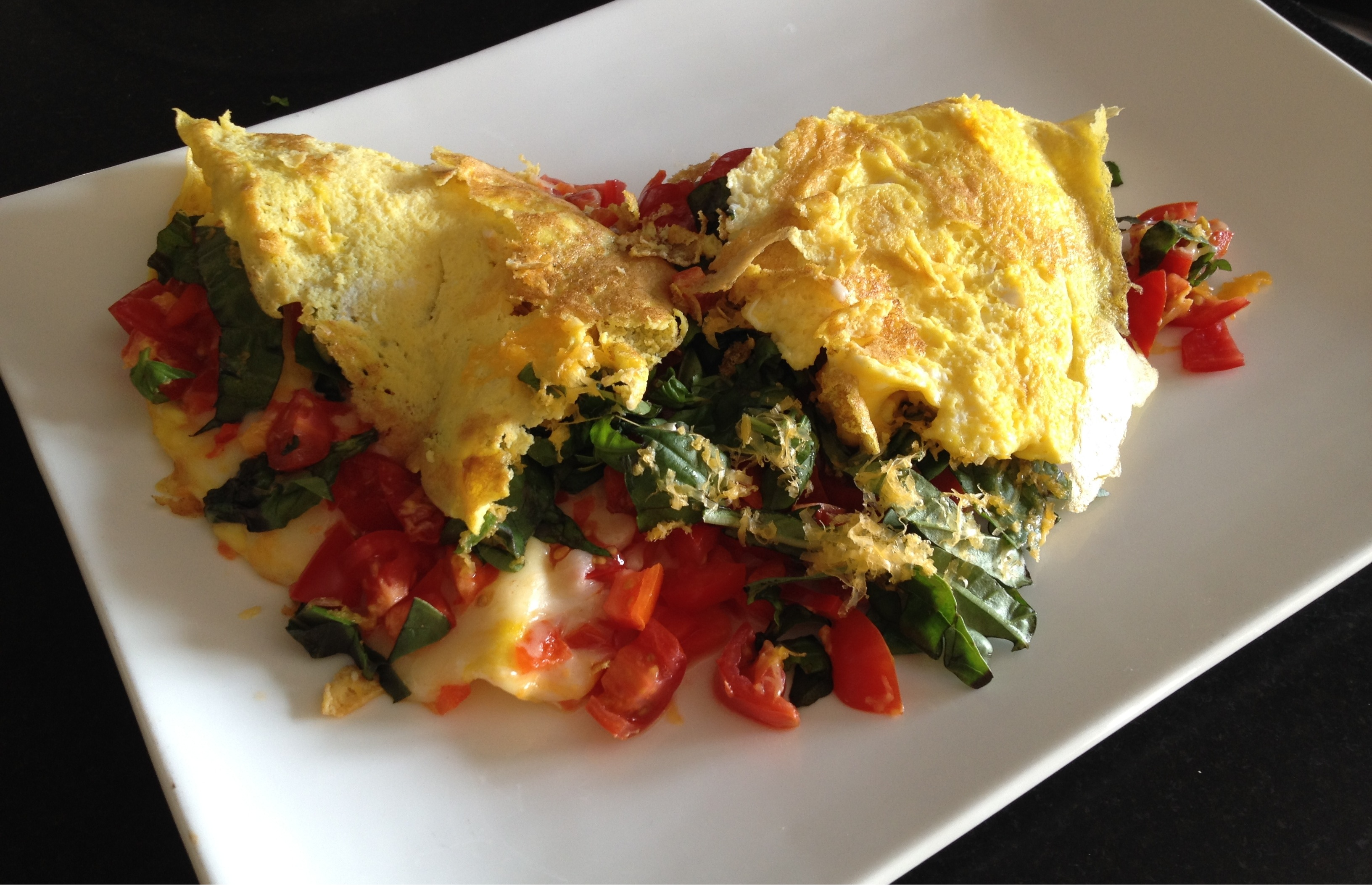 Red Kale And Cheese Omelette For Two Recipes — Dishmaps
