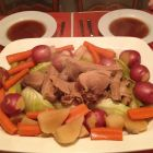 Mary's b-day dinner - platter of Pot au Feu