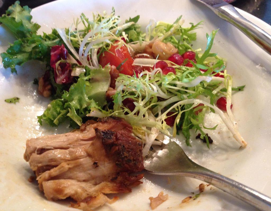 Porchetta and salad leftovers.
