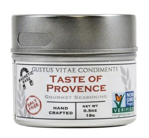 Gustus Vitae Condiments Taste of Provence Gourmet Seasoning.