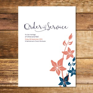Whimsical Wedding Order of Service