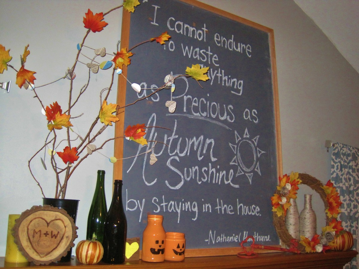 (Fake) Fall Leaves and Other Autumn Decor