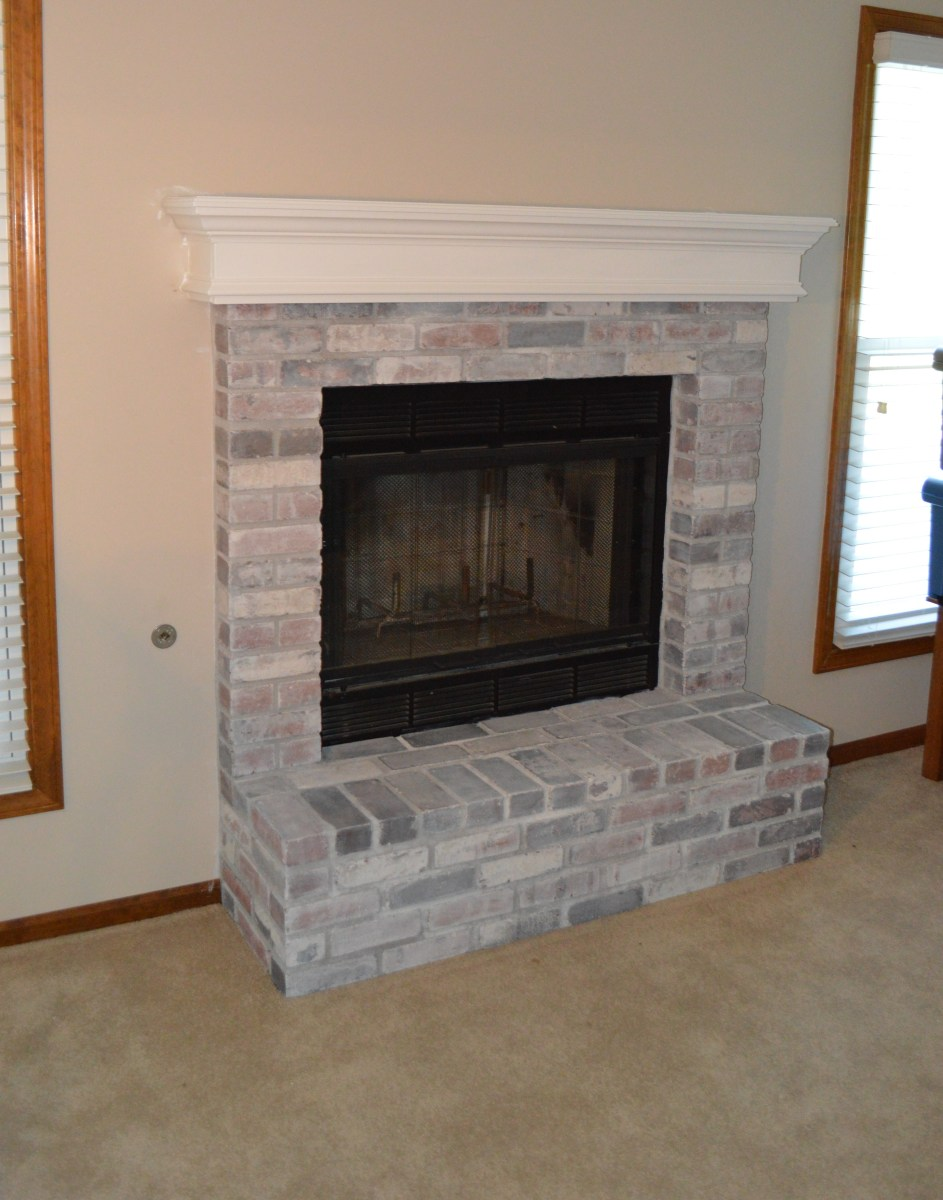 Finally Finished...The Basement Fireplace Makeover