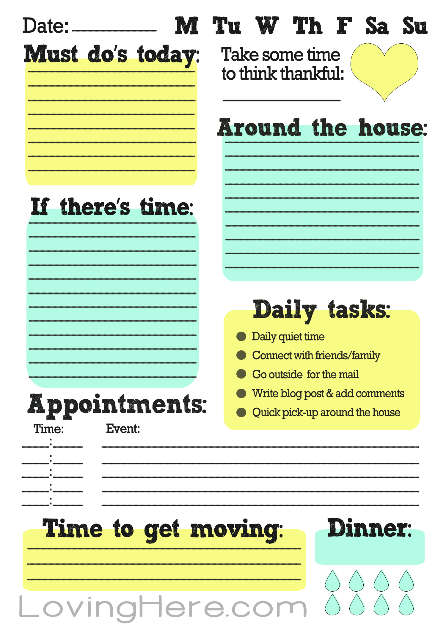 Cute Daily To Do List Pictures to Pin PinsDaddy – Free Printable Daily to Do List Template