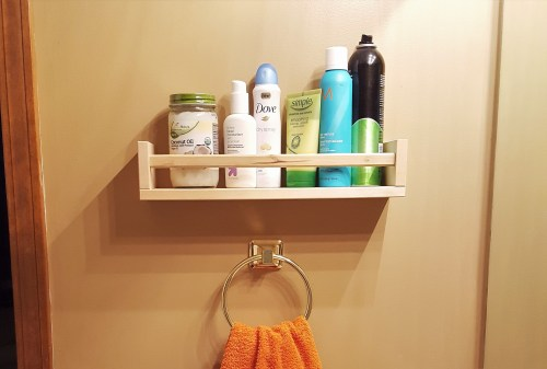 Medium Of Bathroom Shelf Rack