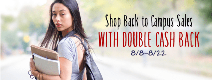 Earn double cashback on back-to-school shopping through Ebates.