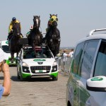 Wild horses couldn't stop the Tour publicity caravan