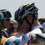 Cav jokes with George Hincapie (not shown)