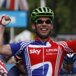Mark Cavendish wins the London-Surrey Cycle Classic which is a test event for the Olympic road race