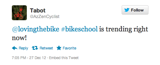 #bikeschool trending on Twitter