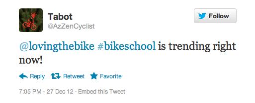 #bikeschool trending on Twitter