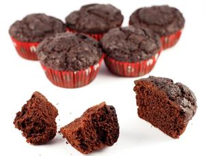 Low-carb gluten-free sugar-free choc muffins