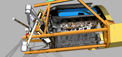 This rendering shows how little space is available for the suspension system