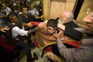 AP photo of monks fighting in Holy Sepulchre