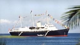 The Royal Yacht Britannia, some time ago