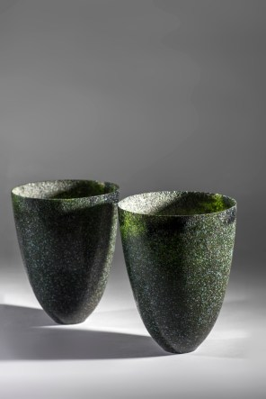 Two large vessel with highly polished surface