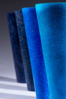 'Symphonyofblue'-Alison Lowry-patede verre polished with Trixact belts