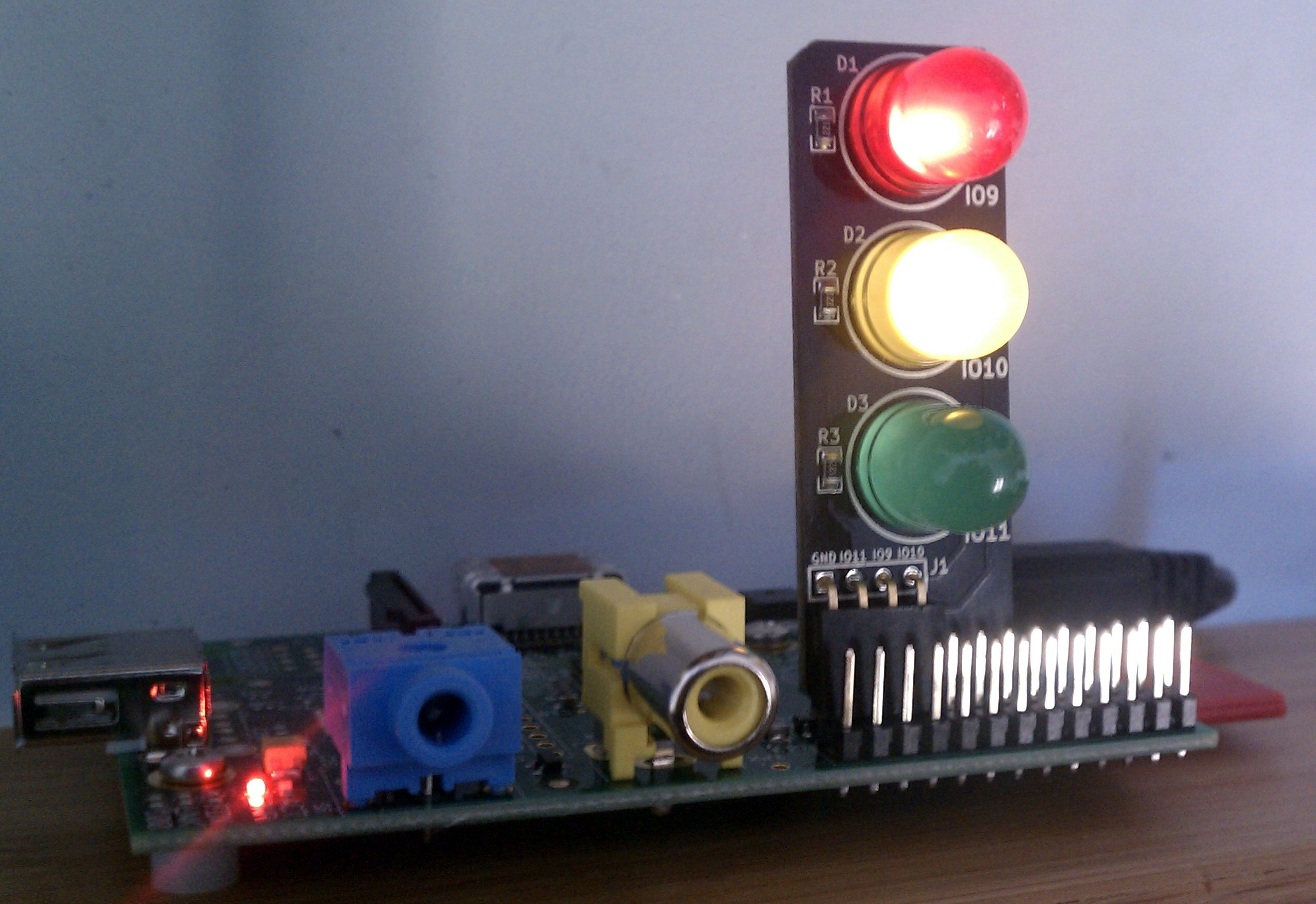Pi Traffic Light Low Voltage Labs Schematic