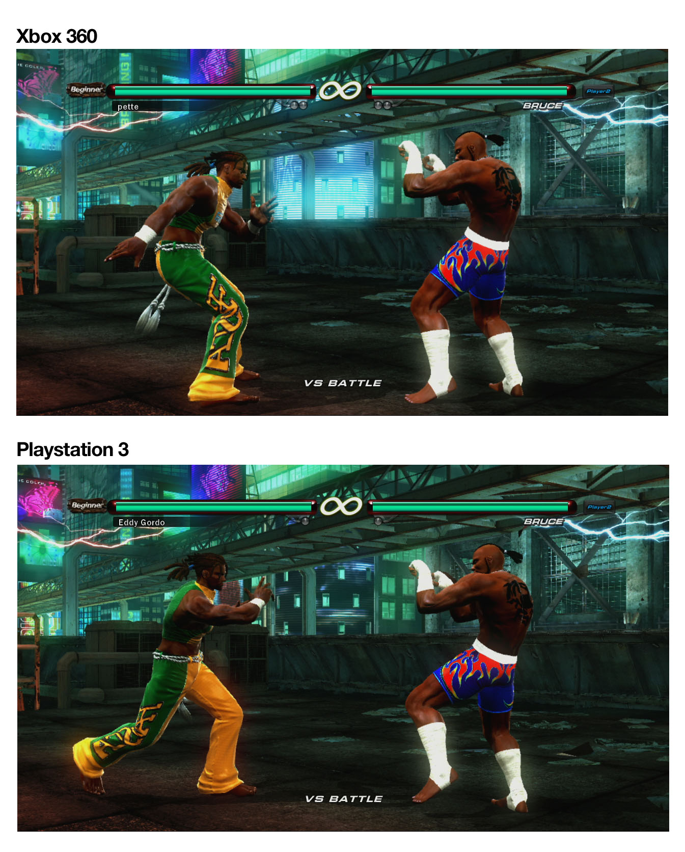 console has the best graphics for Tekken 6: Playstation 3 or Xbox 360