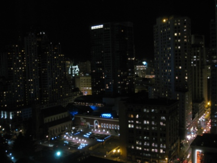W San Francisco room 2609 hotel row at night