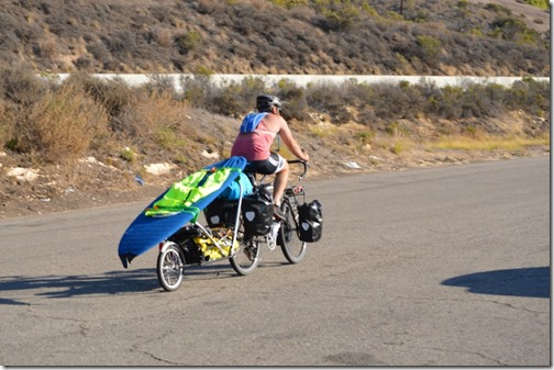California bike and surfer