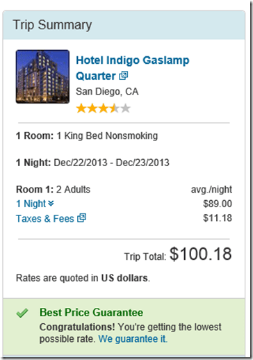 Hotel Indigo Expedia rate