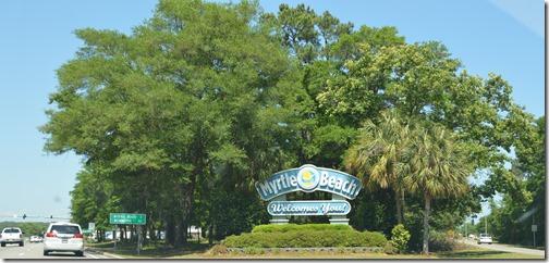 Myrtle Beach SC sign