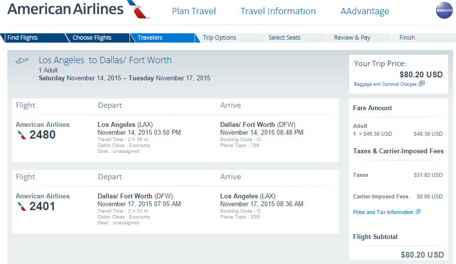 Lax To Dfw On Aa For 80 To 132 Round Trip Loyalty Traveler