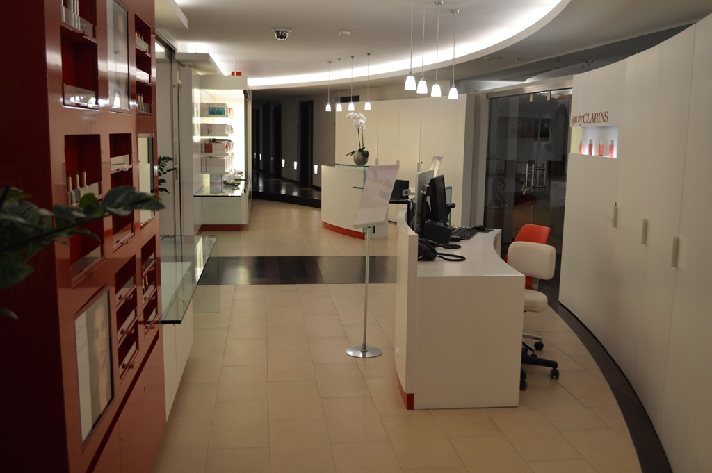 Intercontinental geneva has the views for Clarins salon