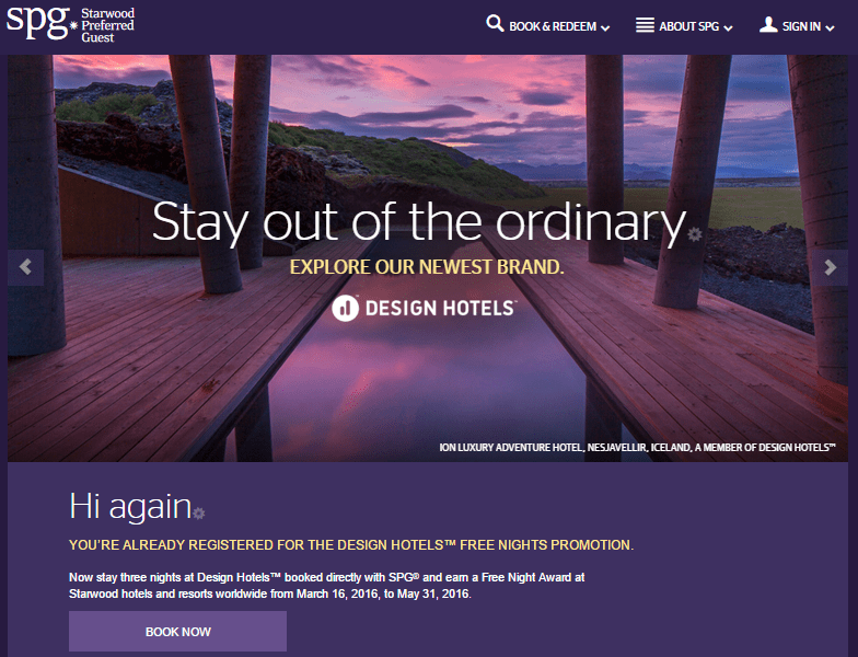 Cheap design hotels to earn free spg cat 5 reward mar 16 for Design hotel spg