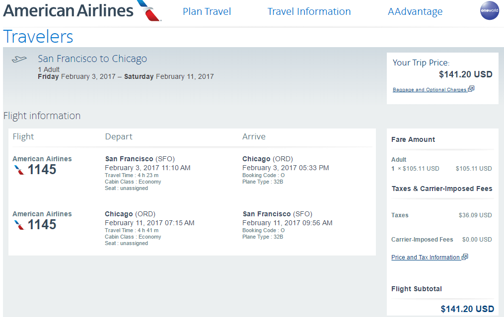 Aa ua lax sfo to chicago 127 round trip for cheap europe for Cheap round trip flights from chicago