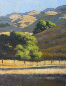 """""""Spreading Morning Light"""" Dotty Hawthorne, oil, 14"""" x 11"""" unframed, 19.5"""" x 16.5"""" framed $775"""